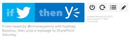 publishing twitter to yammer