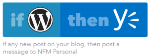 wordpress blog posting to yammer