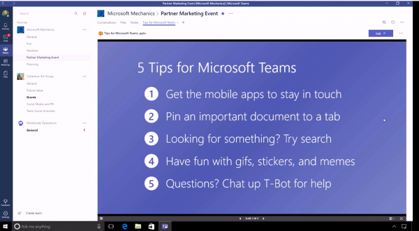 Choices in Collaboration: Microsoft Teams, Yammer & Office